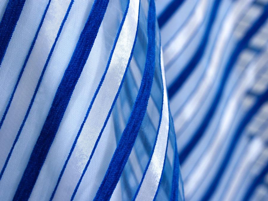 Organza Chenille Stripe