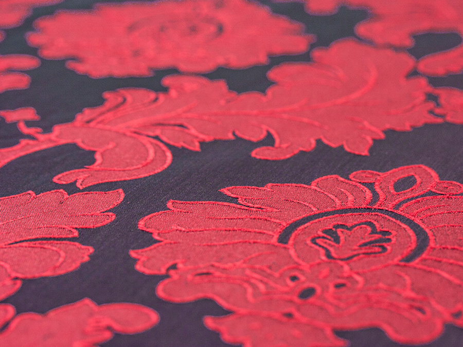 Alex Damask - Red Mulberry